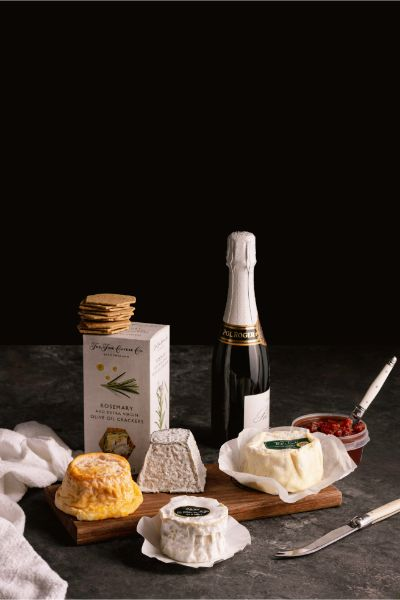 Demi Champagne & French Cheese Hamper - Milk the Cow Licensed Fromagerie
