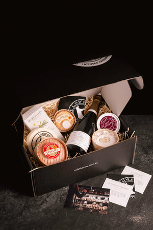 Father's Day Champagne, Chocolate & Cheese Hamper - Milk the Cow Licensed Fromagerie