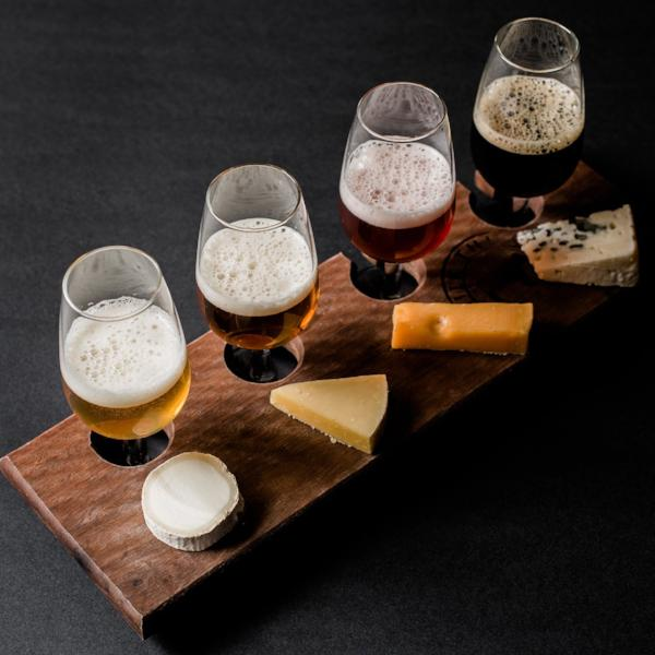 Large Cheese & Beer Flight for 2 - Milk the Cow Licensed Fromagerie