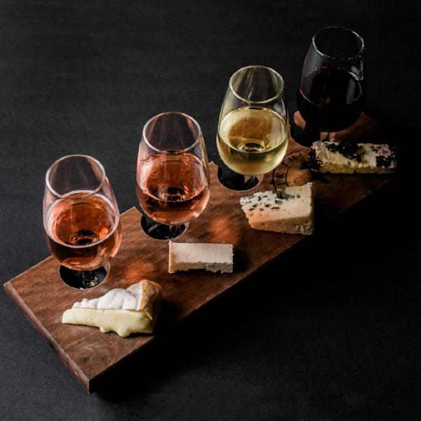 Cheese & Wine Flight for 2 - Milk the Cow Licensed Fromagerie