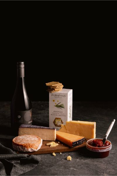 Big Red Wine & Cheese Hamper - Milk the Cow Licensed Fromagerie