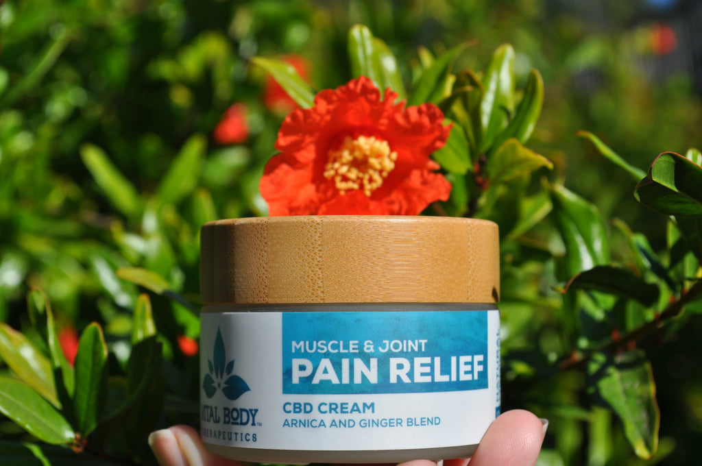CBD massage cream and pain relief cream for injuries and arthritis, skin irritation and aches and pains.