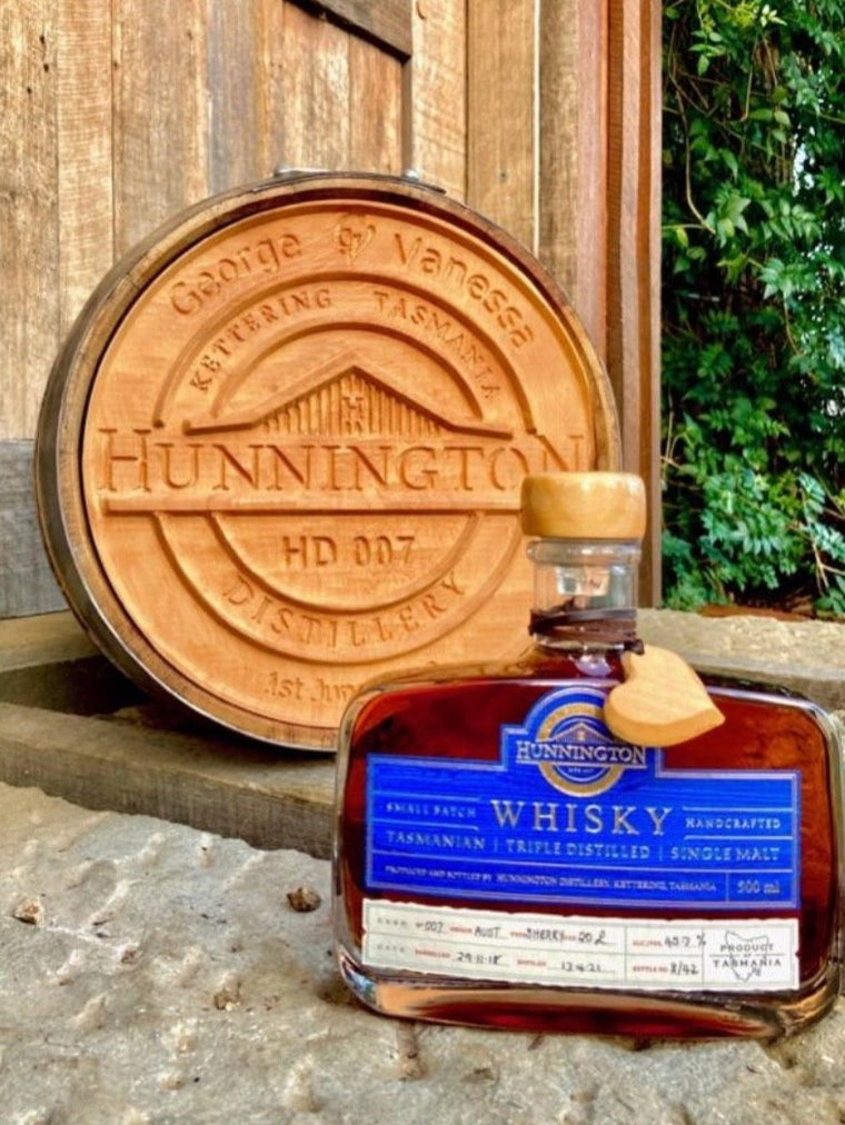 Hunnington Triple Distilled Single Malt Whisky - Cask HD007