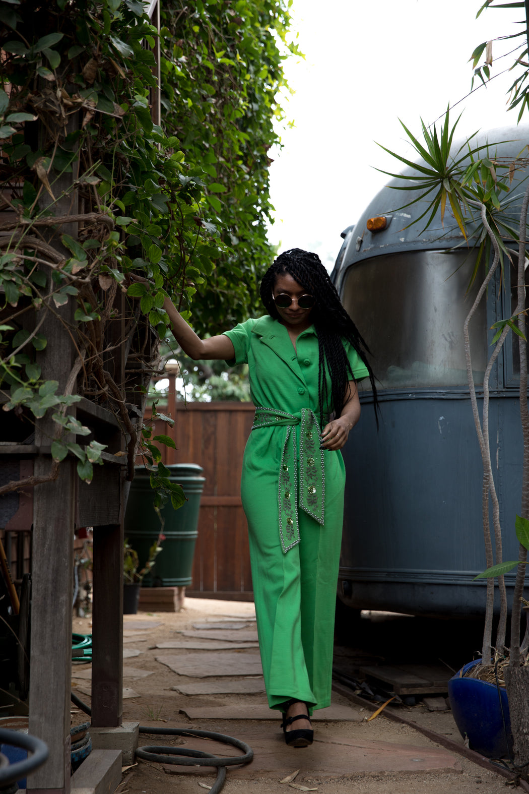 SOUL TRAIN SHOWSTOPPER GREEN WITH ENVY JUMPSUIT