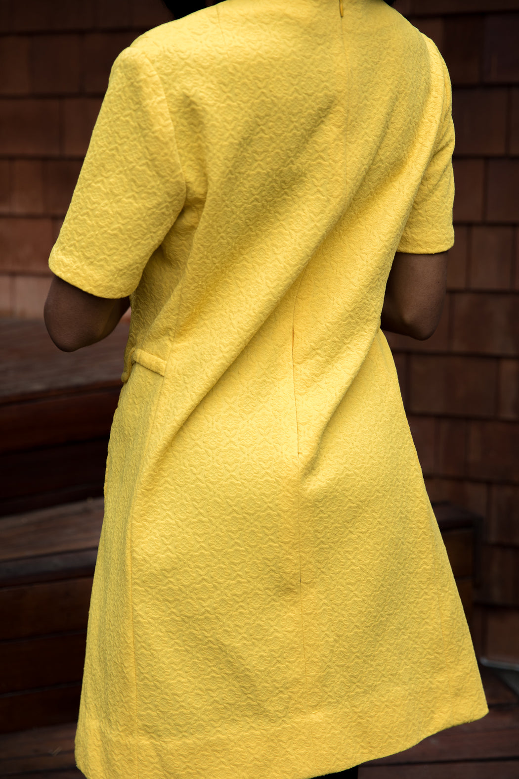MELLOW YELLOW MIND YOUR OWN CURVES MOD DRESS