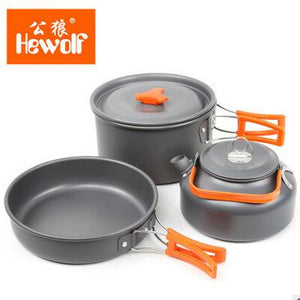 Aluminum Foldable Tableware Trekking Picnic Camping Cooking Set