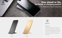 Baseus Wireless Charger For iPhone X 8,7,6 Plus Samsung Note 8 S8 S7 S6 Edge