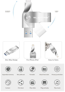 Suntrsi USB Flash Drive for Iphone and IOS