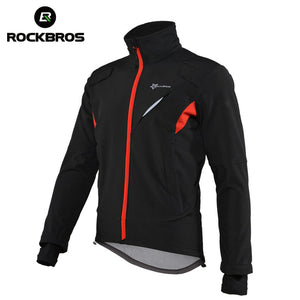 ROCKBROS Winter Fleece Cycling Sets Bicycle Thermal Jacket Men's Bike Trousers ropa ciclismo Winter Cycling Clothing Sportswear
