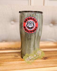 Custom 20 oz  Woodgrain Tumbler