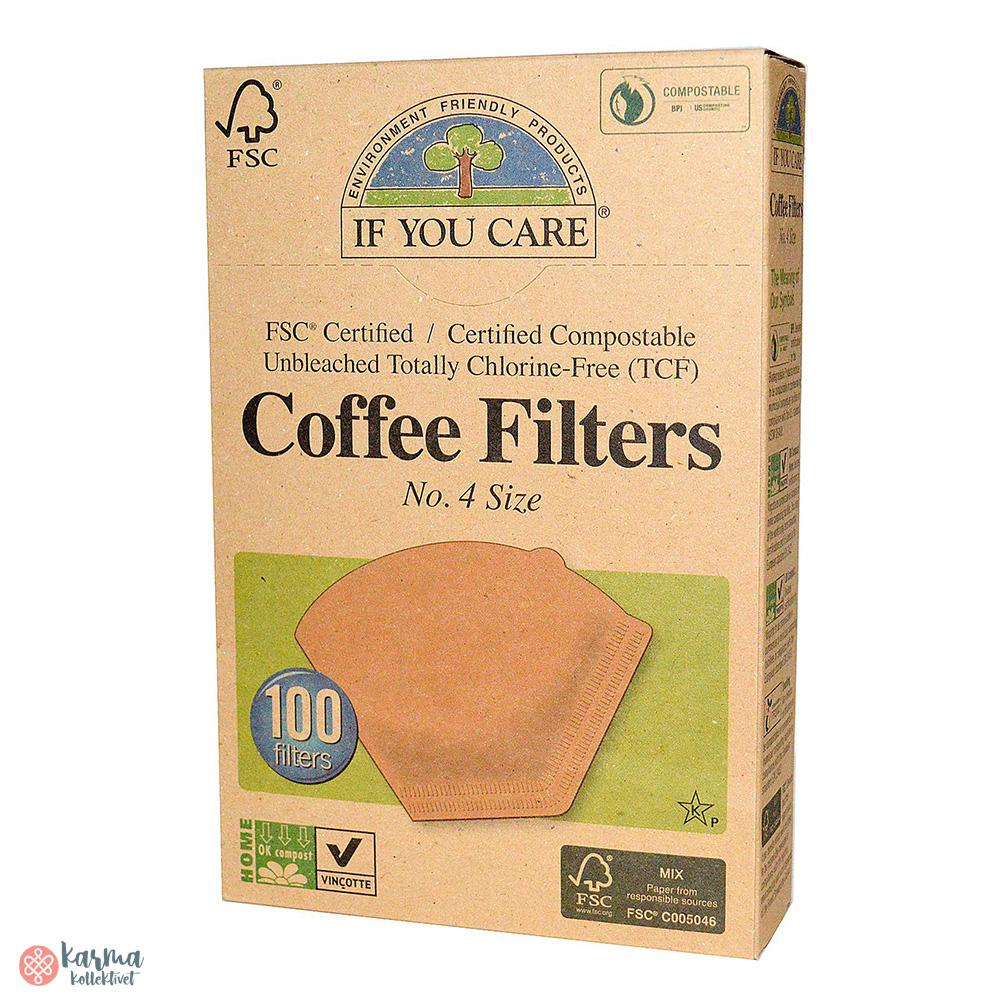 If You Care Ubleket kaffefilter, nr4 - karma kollektivet