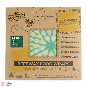 Bee Wrappy Bivoksark, mix 4stk - karma kollektivet