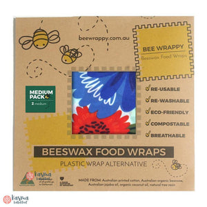 Bee Wrappy Bivoksark, medium 2stk - karma kollektivet