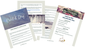 Elemental Promise -  Energetic Constitution PDF | Cold & Dry Constitution | Consciously Holistic Living | All-Natural Body Care Products