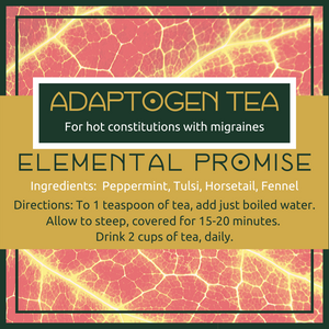 Elemental Promise -  Adaptogen Tea -- Hot Migraine | All-Natural Body Care Products