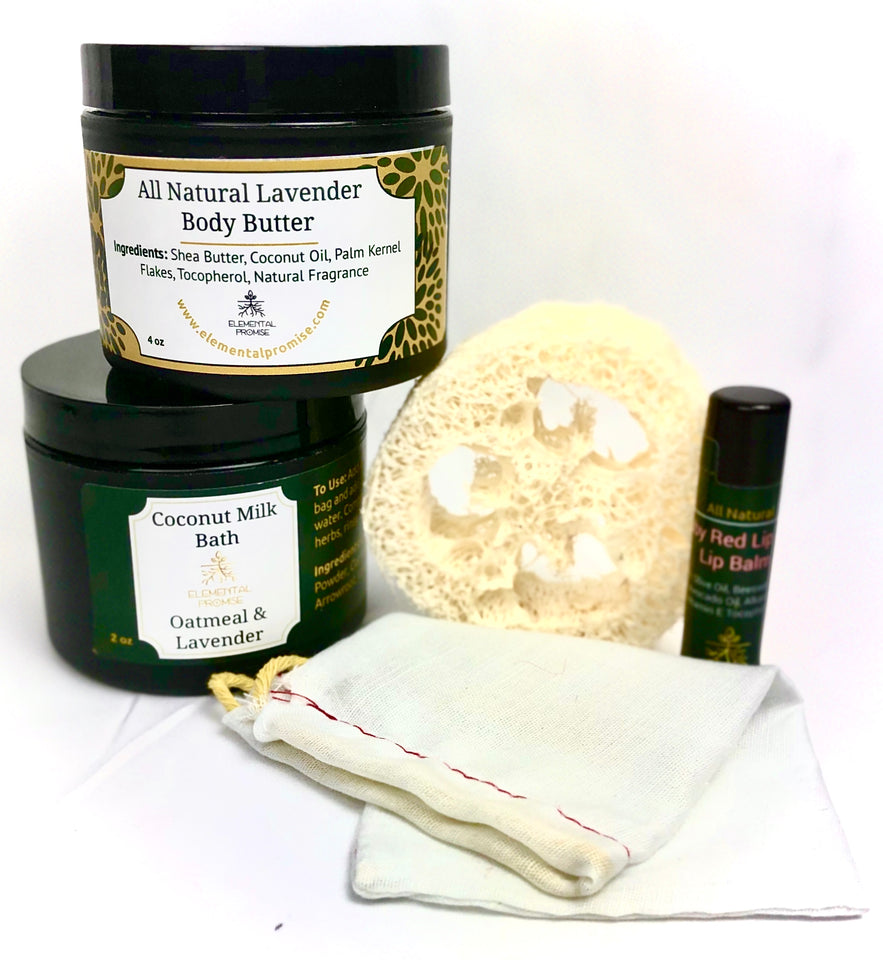 Elemental Promise -  Lovely Lavender Gift Collection | All-Natural Body Care Products