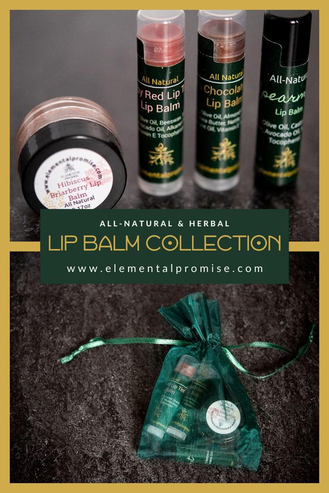 Elemental Promise -  Kisser Up Keep Herbal Lip Balm Set | All-Natural Body Care Products