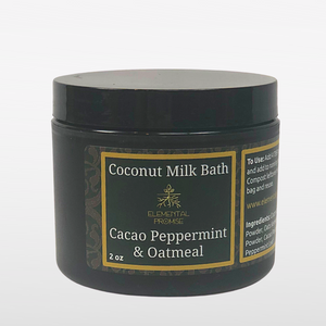 Vegan Coconut Milk Bath ~ Oatmeal Cacao Mint - Elemental Promise