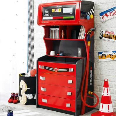 GTS Gas Pump 4 Drawer Chest with Extra Storage
