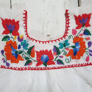 VINTAGE mexican embroidered top (size 7-8) or dress (size 4-5)