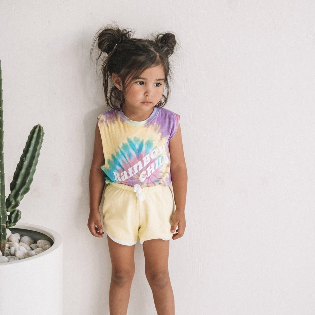 RAiNBOW CHiLD cut off tee