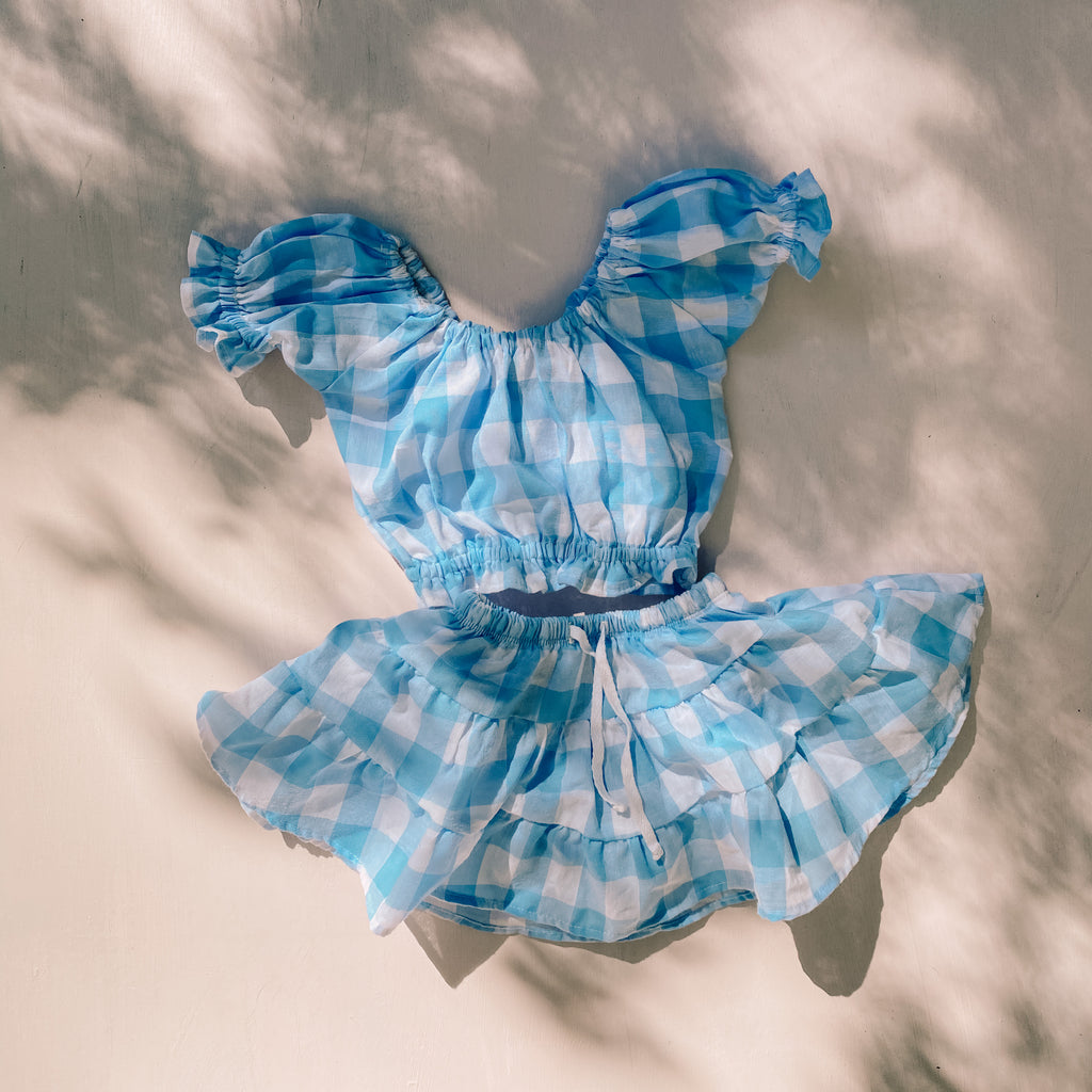 JOSiE set ~ sky gingham
