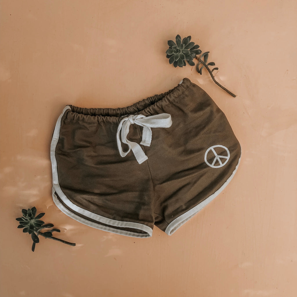 PEACE DUSTY SHORTS ~ olive
