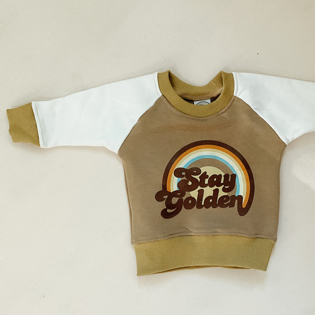 STAY GOLDEN jumper ~ nu x suede collab