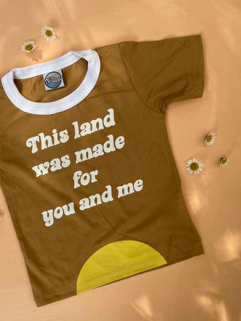 THiS LAND WAS MADE FOR YOU + ME tee ~ NU x LENNON + BiRDiE