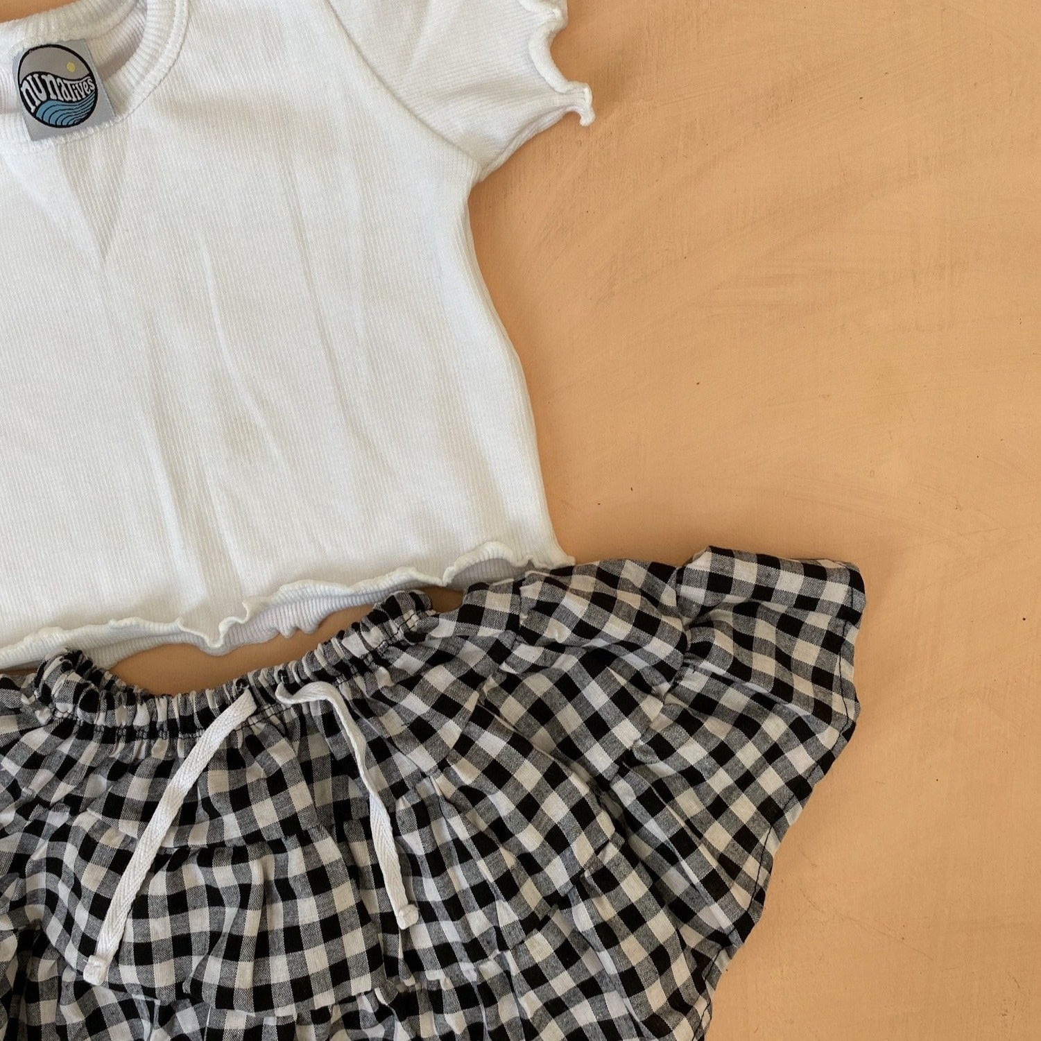 JOSiE skirt ~ b/w gingham