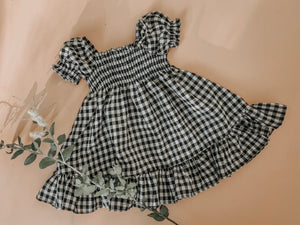 WiNNiE DRESS ~ B/W GiNGHAM