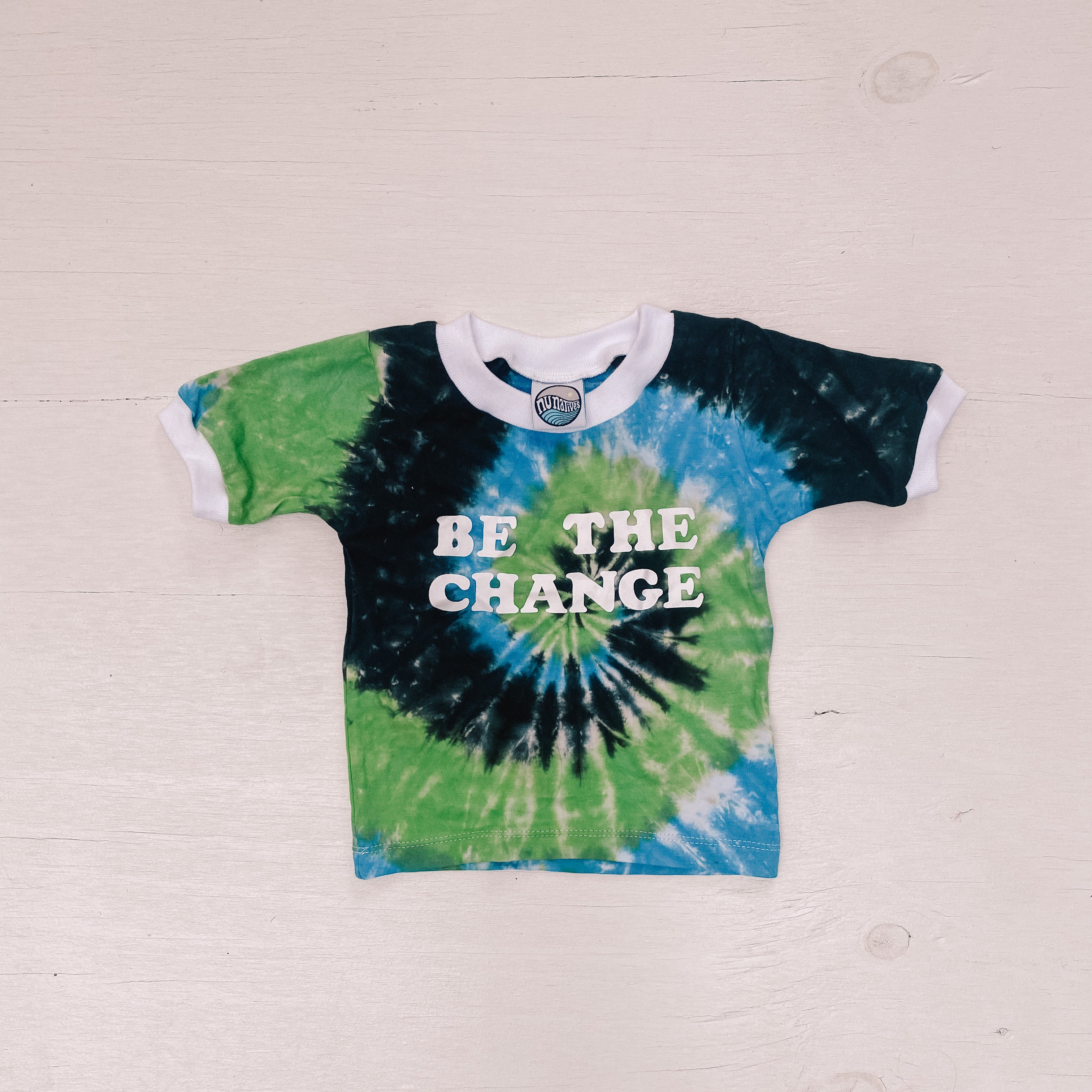 BE THE CHANGE tee ~ Torres Strait Islander Colours