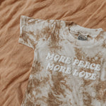 MORE PEACE MORE LOVE tee ~ organic cotton