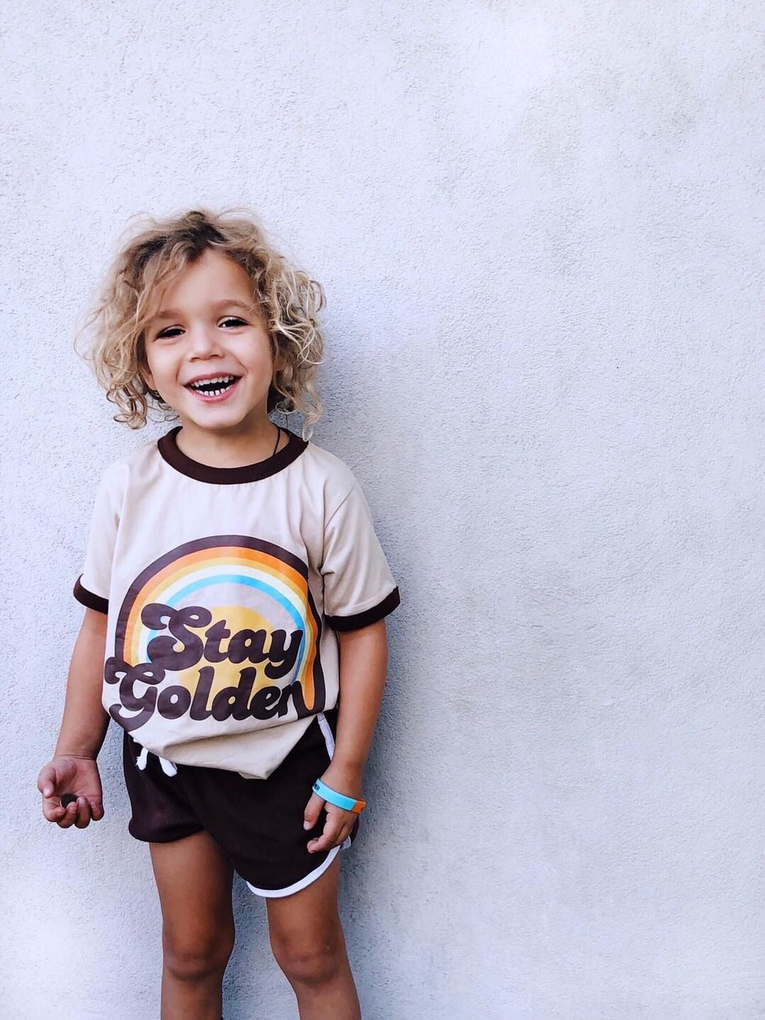 STAY GOLDEN ringer tee ~ a SUEDE DAZE x NU collab