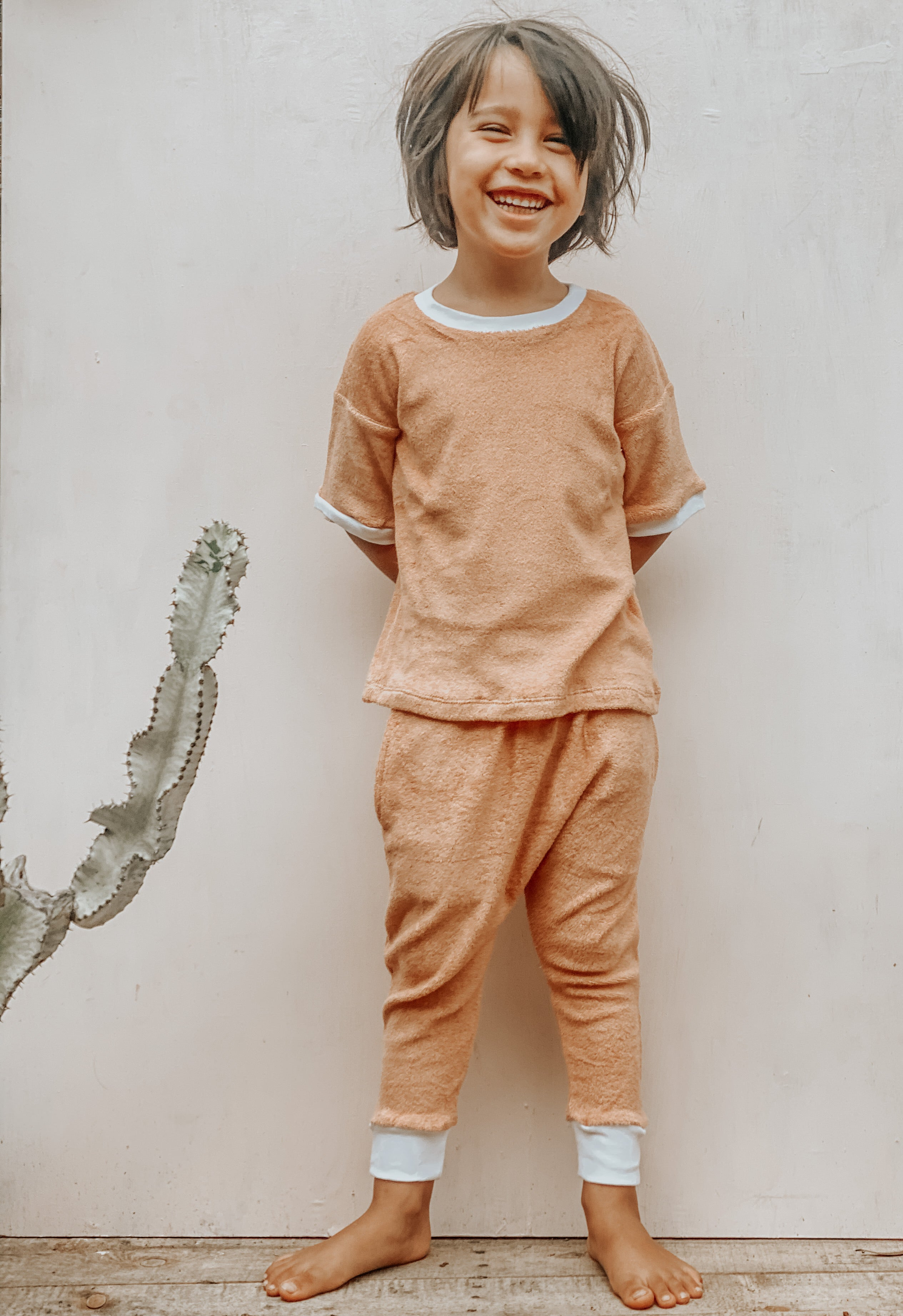 BiLLiE tracksuit ~ peachy nougat terry towelling