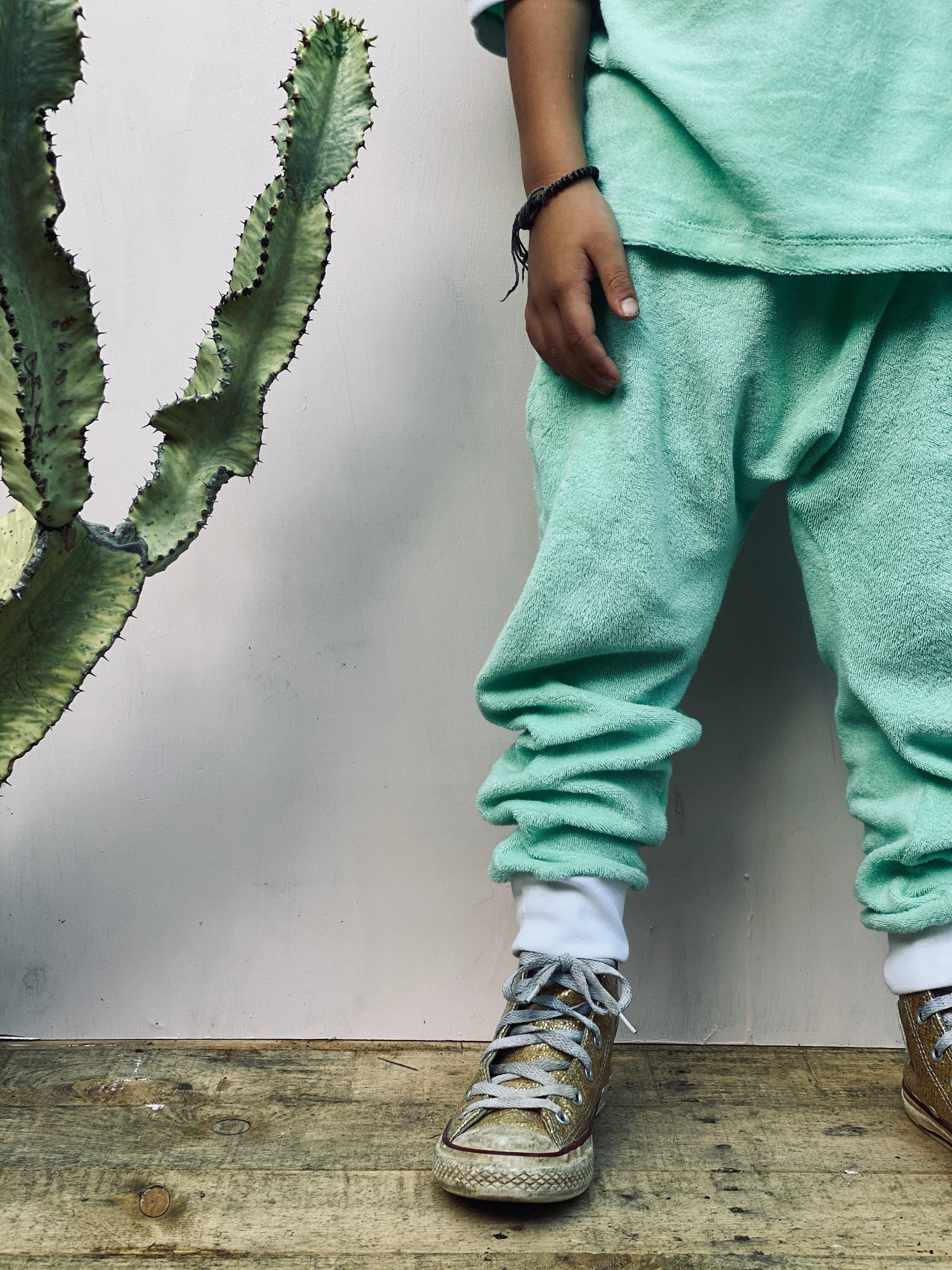 BiLLiE tracksuit - mint terry towelling