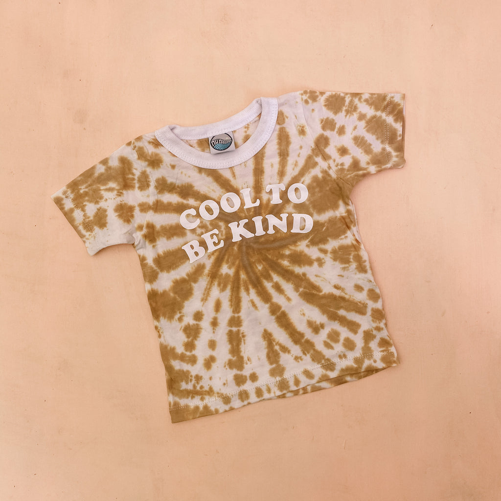 COOL TO BE KiND tee ~ caramel tie dye