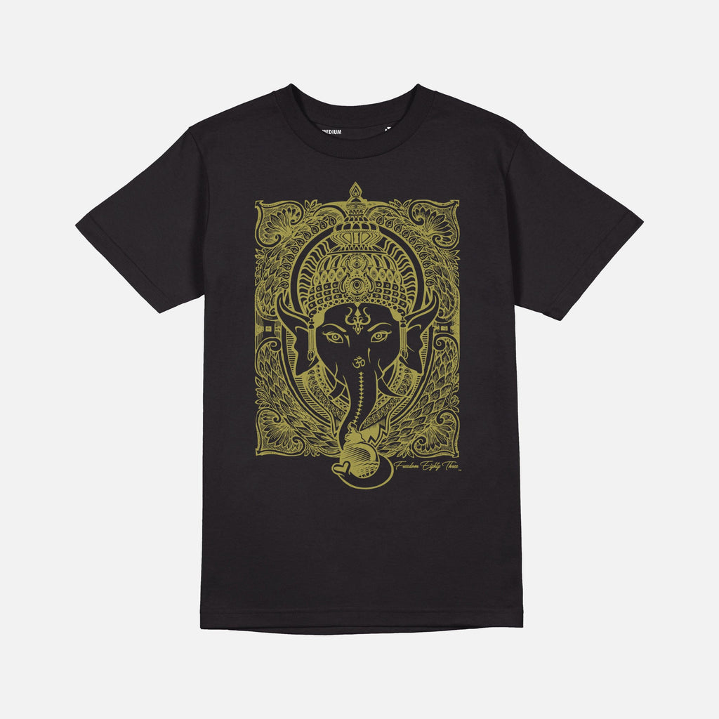 Ganesh T-shirt Black /  Metallic Gold - Freedom 83