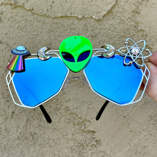 Alien Sunglasses-Rave Fashion Goddess