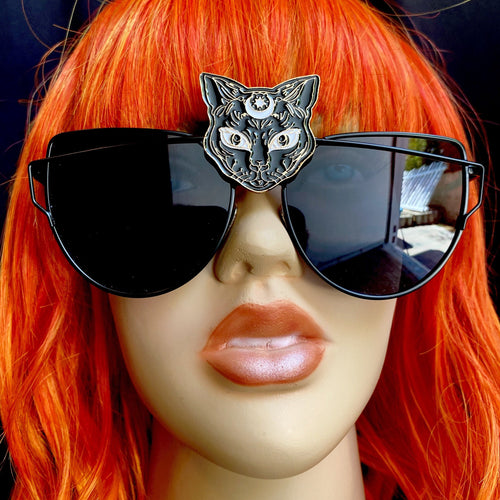 Black Cat Sunglasses-Rave Fashion Goddess