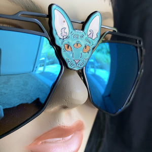 Blue Mirror Sunglasses-Rave Fashion Goddess