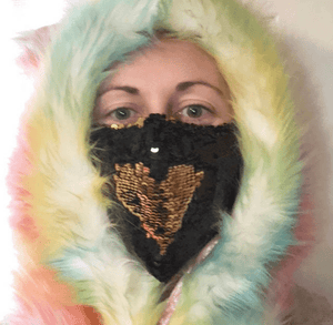 Burning Man Face Mask-Rave Fashion Goddess