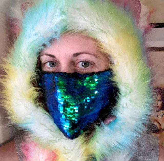 Burning Man Mask-Rave Fashion Goddess
