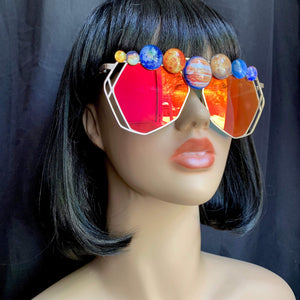 Galaxy Sunglasses-Rave Fashion Goddess