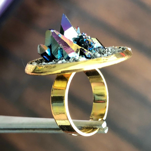 Gemstone Cluster Ring-Rave Fashion Goddess