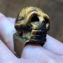 Gold Skull Ring-Rave Fashion Goddess