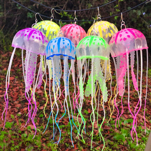 Jellyfish Earrings - Jewelry - Glow In The Dark-Rave Fashion Goddess