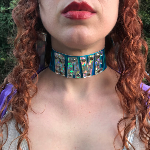 Letter Choker-Rave Fashion Goddess