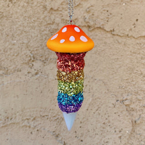 Mushroom Necklace-Rave Fashion Goddess