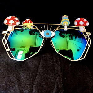 Mushroom Sunglasses-Rave Fashion Goddess